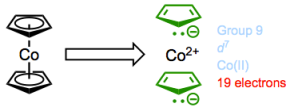 Cobaltocene...how should we expect this compound to react?