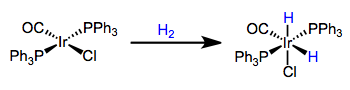 Concerted oxidative addition of dihydrogen for the synthesis of metal hydrides. Note that an open coordination site is necessary for this method to work!
