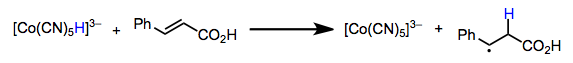 Hydrogen atom transfer to olefins. Radical reduction of carbon tetrachloride is a related process.