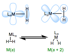 Orbital interactions and L-X2 equilibrium in σ complexes.