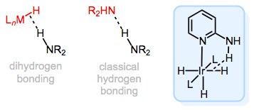 "Dihydrogen bonding in metal hydrides: a sort of ""interrupted protonation"" of M–H."